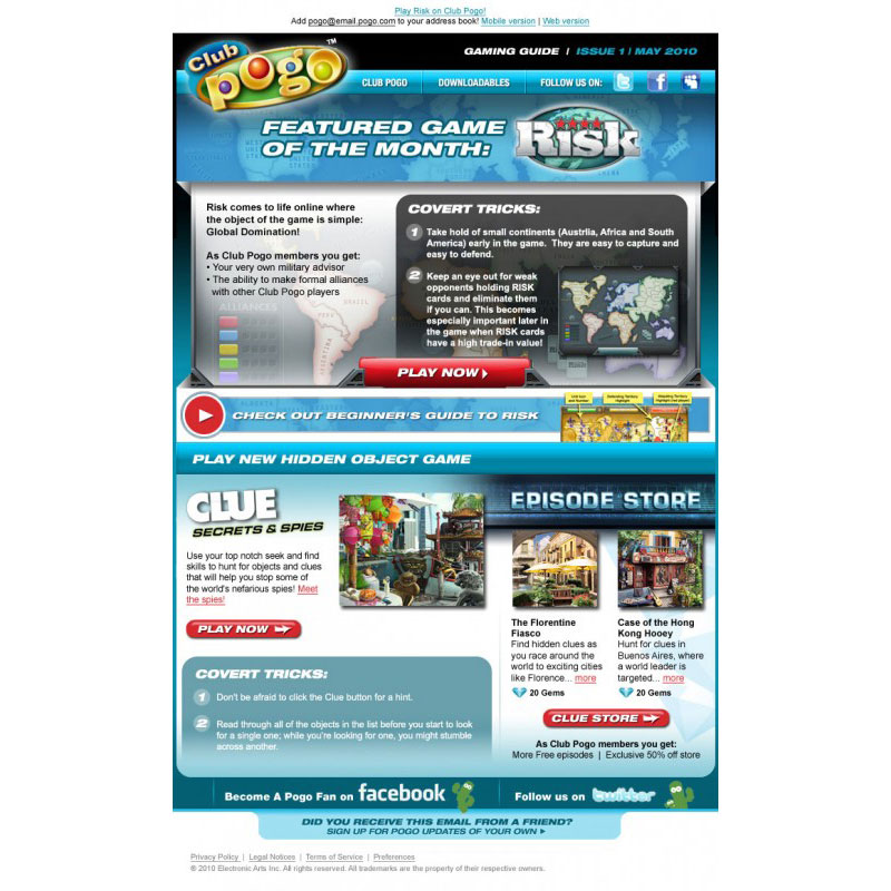 pogo email marketing email template