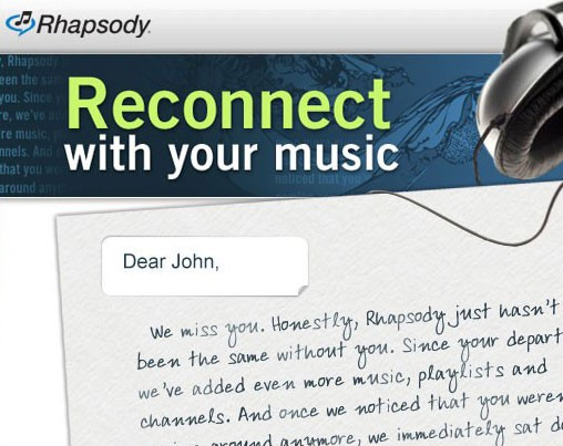 rhapsody email feature image