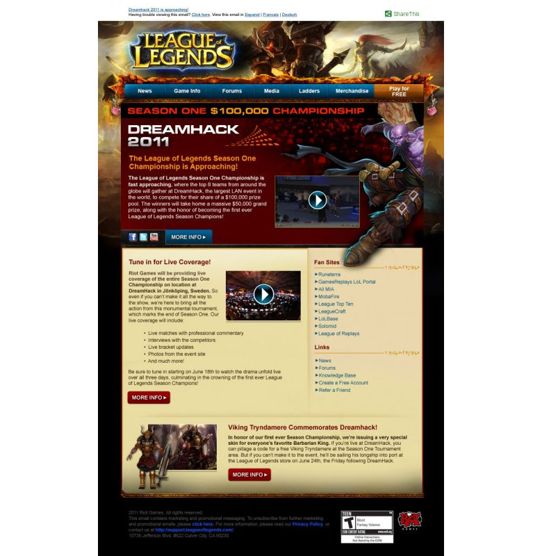 riot games email design example