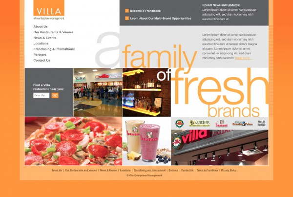 villa-restaurant-homepage-design