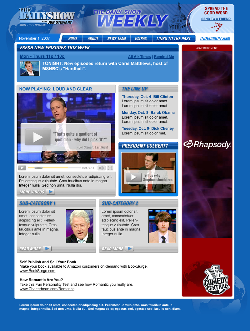 dailyshow email template