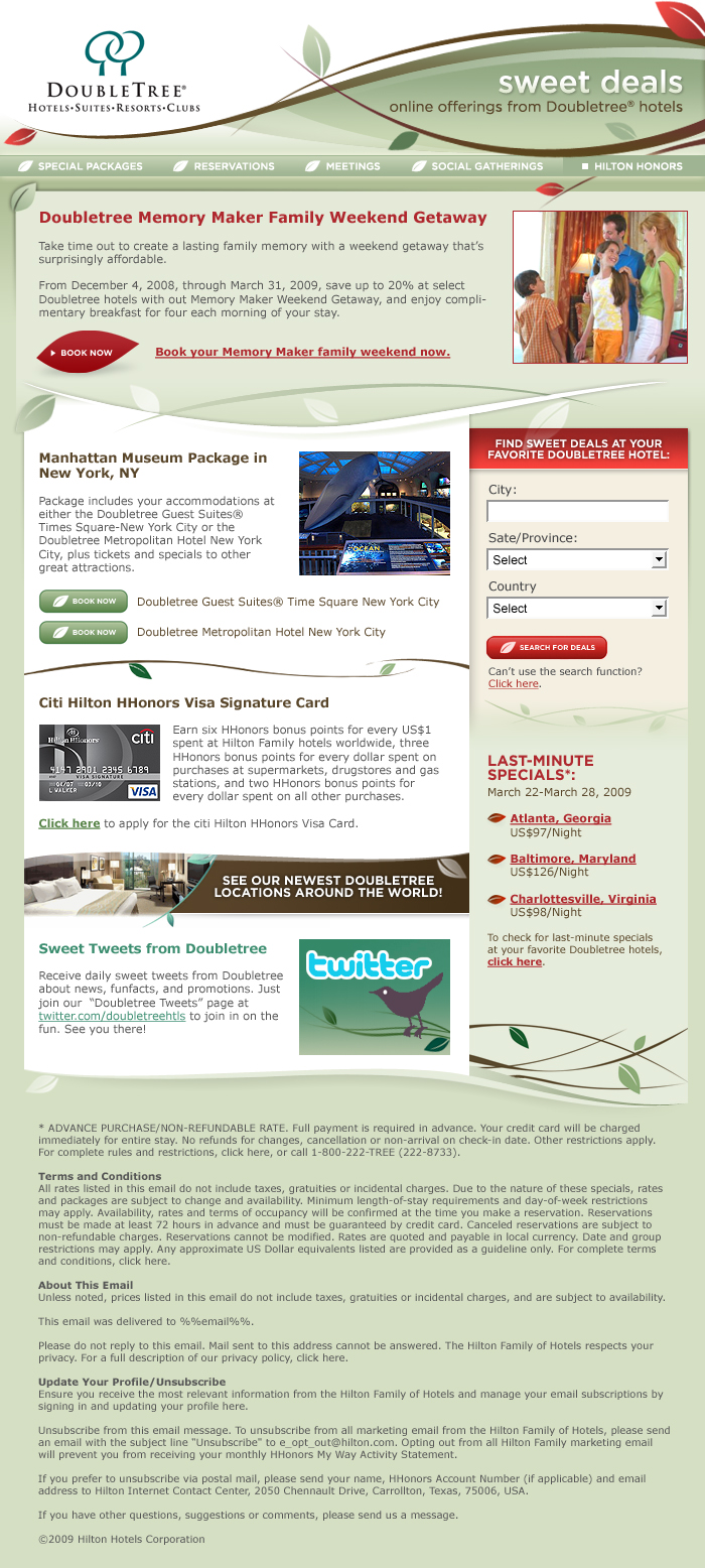 doubletree email creative example