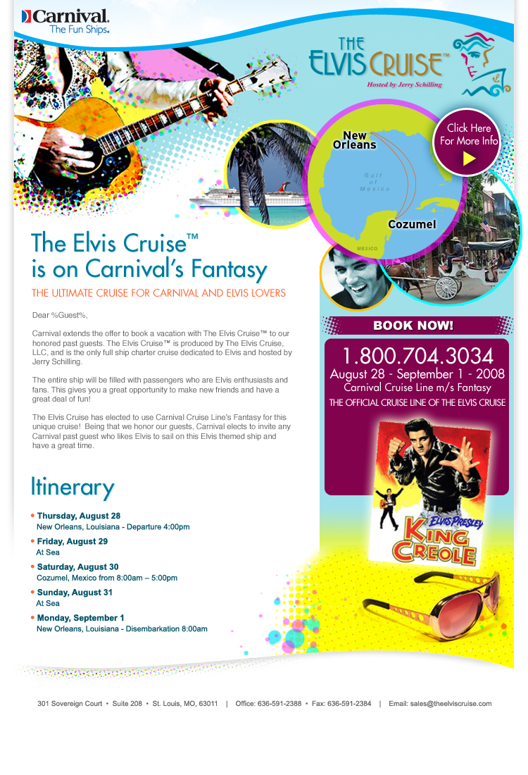 carnival email creative example