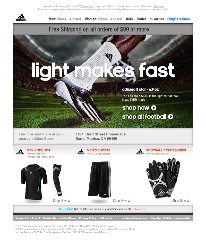 adidas product template