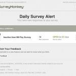 surveymonkey daily alert email