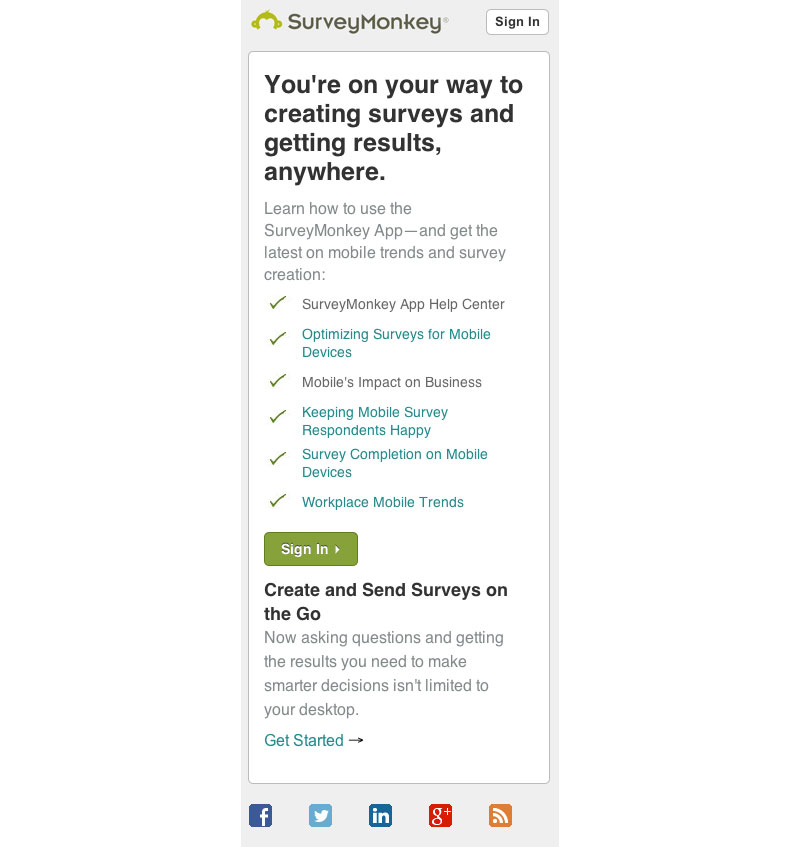 surveymonkey responsive mobile welcome email
