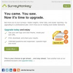 surveymonkey upgrade email